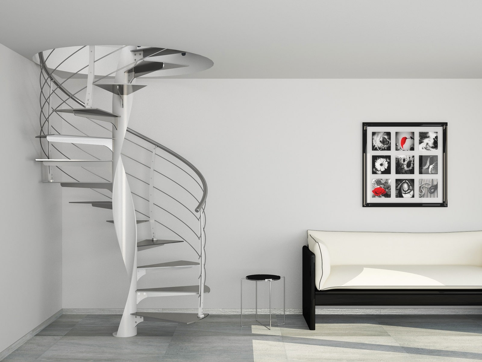 escalier colimaon design interesting escalier droit quart tournant en colimaon with escalier. Black Bedroom Furniture Sets. Home Design Ideas